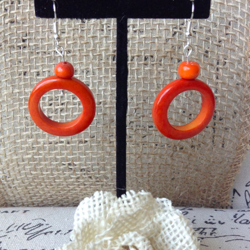 Tagua Dangle & Drop Earrings