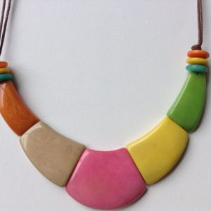 TAGUA NUT BIB NECKLACE