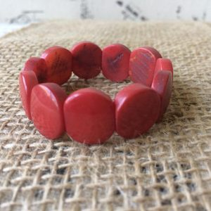 RED BEADED BRACELET FOR LITTLE GIRLS