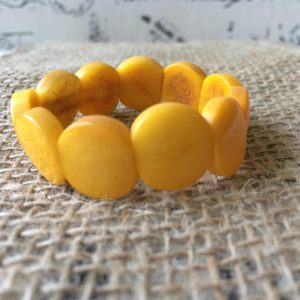 YELLOW BEADED BRACELET FOR LITTLE GIRLS