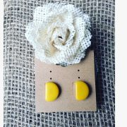 YELLOW POST EARRIGS - ECO FRIENDLY JEWELRY