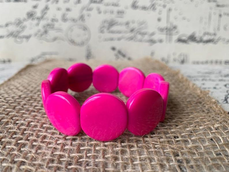 Circle bead tagua bracelet