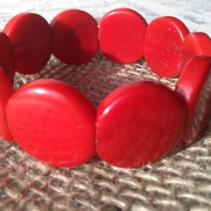 BRIGHT RED ECO FRIENDLY BRACELET