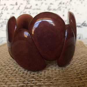 Brown statement tagua nut bracelet