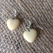 Heart tagua nut earrings