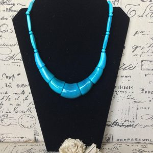Turquoise Bib Tagua Nut Necklace