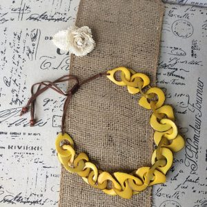 Oversized Yellow Tagua Necklace