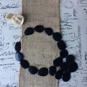 Black Statement Tagua Nut Necklace