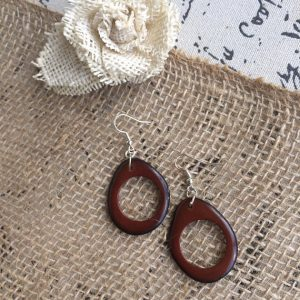 Brown Statement Tagua Earrings