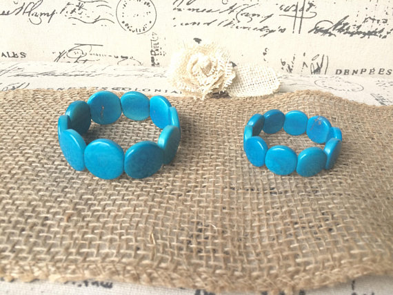 Turquoise mommy and me bracelet set