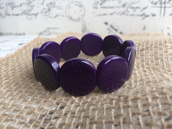 Purple tagua nut bracelet