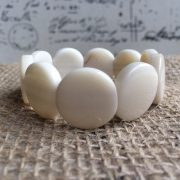 White Tagua Nut Bracelet with Round Beads