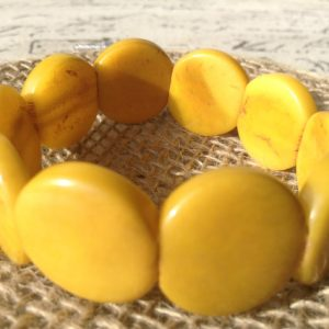 Yellopw tagua bangle bracelet