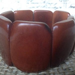 Brown statement tagua bracelet