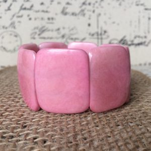 Pink Beaded tagua nut necklace