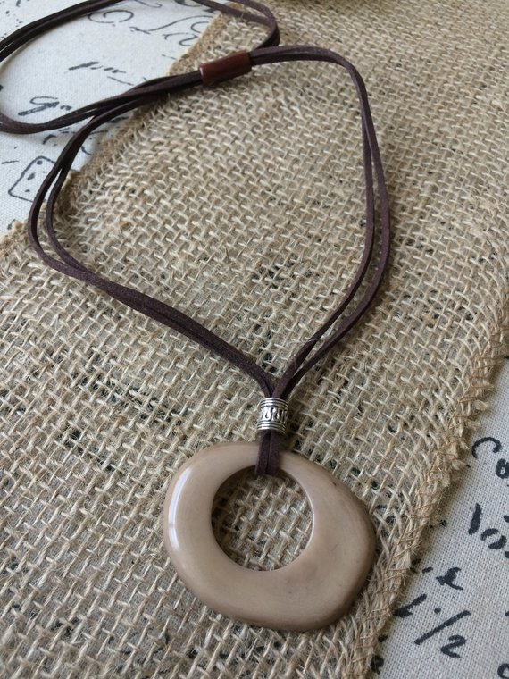 Light brown tagua necklace