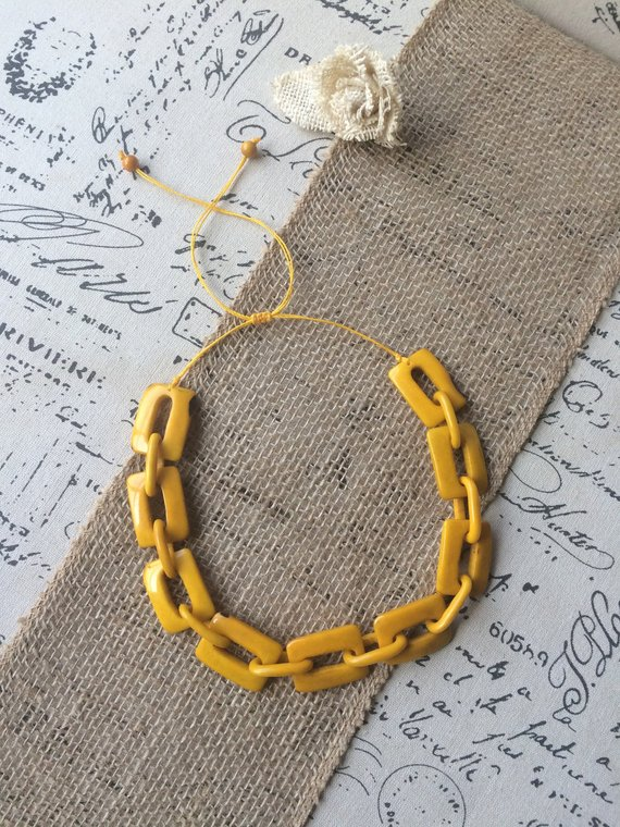 yellow chain link