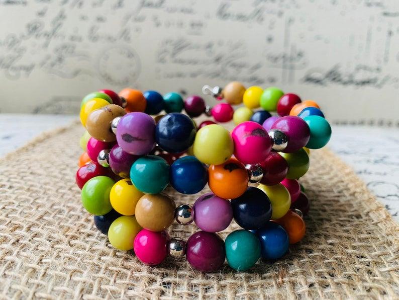 rainbow acai bracelet